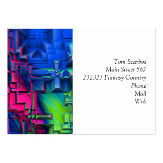 colorful abstract structured (I) Pack Of Chubby Business Cards