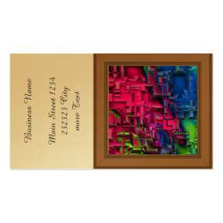 colorful abstract structured (I) Pack Of Standard Business Cards