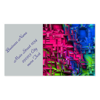colorful abstract structured (I) Double-Sided Standard Business Cards (Pack Of 100)