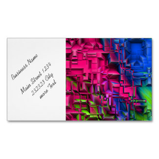 colorful abstract structured (I) Magnetic Business Cards