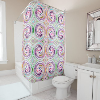 Colorful Abstract Swirl Pattern #9 Shower Curtain