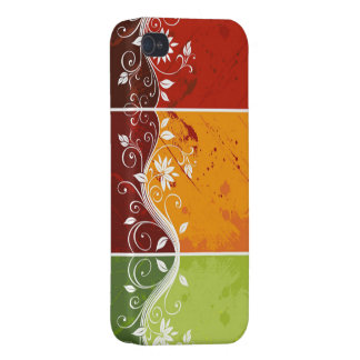 colorful abstract swirl vector flowers iPhone 4 cases