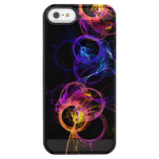 Colorful Abstract Swirling Smoke Rings Clear iPhone SE/5/5s Case