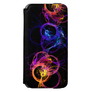 Colorful Abstract Swirling Smoke Rings Incipio Watson™ iPhone 6 Wallet Case