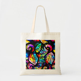 Colorful Abstract Swirls And Circles Design Tote Bag