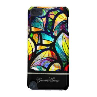 Colorful Abstract Swirls Custom Name iPod Touch 5G Case