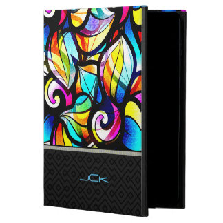 Colorful Abstract Swirls Stained Glass Look