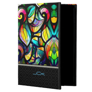 Colorful Abstract Swirls Stained Glass Look 2