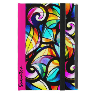 Colorful Abstract Swirls-Stained Glass Look 2 iPad Mini Case