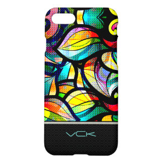 Colorful Abstract Swirls Stained Glass Look 2 iPhone 7 Case