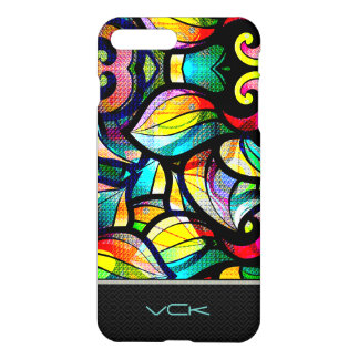 Colorful Abstract Swirls Stained Glass Look 2 iPhone 7 Plus Case