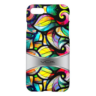 Colorful Abstract Swirls Stained Glass Look 2b iPhone 7 Case