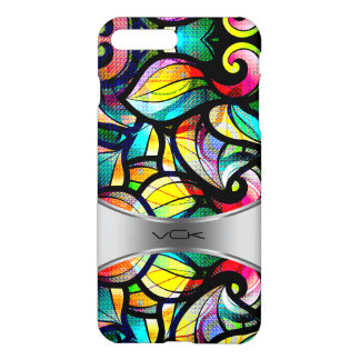 Colorful Abstract Swirls Stained Glass Look 2b iPhone 7 Plus Case