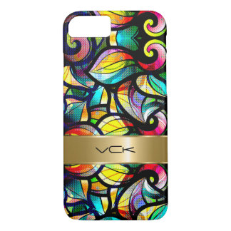Colorful Abstract Swirls Stained Glass Look 2c iPhone 7 Case