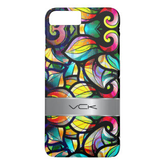 Colorful Abstract Swirls Stained Glass Look 2c iPhone 7 Plus Case