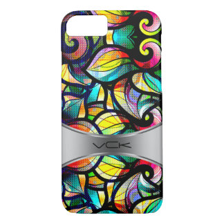 Colorful Abstract Swirls Stained Glass Look 2d iPhone 7 Case
