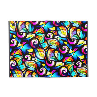 Colorful Abstract Swirls-Stained Glass Look Covers For iPad Mini