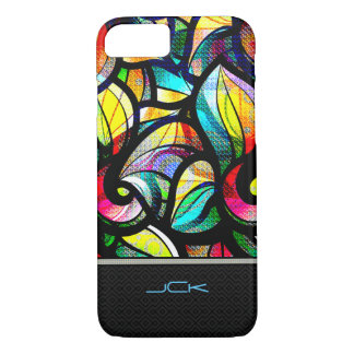 Colorful Abstract Swirls Stained Glass Look iPhone 7 Case