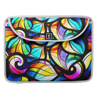 Colorful Abstract Swirls Stained Glass Look Sleeve For MacBooks