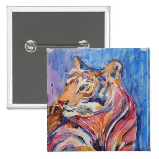 Colorful Abstract Tiger 15 Cm Square Badge