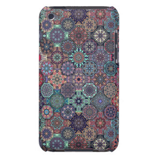 Colorful abstract tile pattern design barely there iPod case