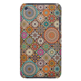 Colorful abstract tile pattern design barely there iPod cover