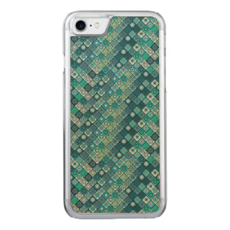 Colorful abstract tile pattern design carved iPhone 8/7 case