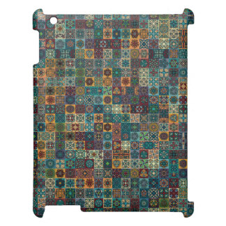 Colorful abstract tile pattern design case for the iPad 2 3 4