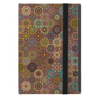 Colorful abstract tile pattern design cover for iPad mini