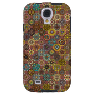 Colorful abstract tile pattern design galaxy s4 case
