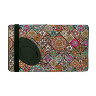 Colorful abstract tile pattern design iPad case