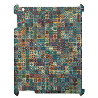 Colorful abstract tile pattern design iPad cases