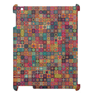 Colorful abstract tile pattern design iPad covers