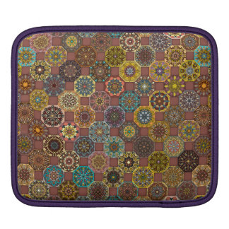 Colorful abstract tile pattern design iPad sleeve