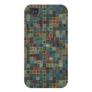 Colorful abstract tile pattern design iPhone 4/4S case