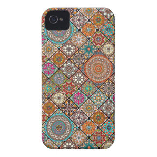 Colorful abstract tile pattern design iPhone 4 Case-Mate case