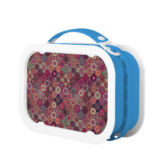 Colorful abstract tile pattern design lunch box