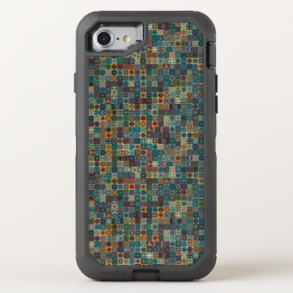 Colorful abstract tile pattern design OtterBox defender iPhone 8/7 case