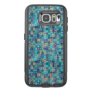 Colorful abstract tile pattern design OtterBox samsung galaxy s6 case