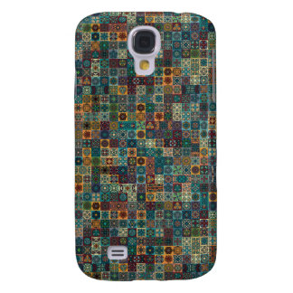 Colorful abstract tile pattern design samsung galaxy s4 cases