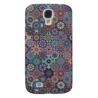 Colorful abstract tile pattern design samsung galaxy s4 covers
