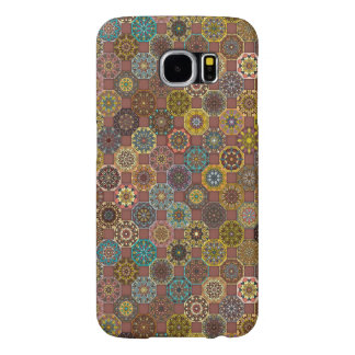 Colorful abstract tile pattern design samsung galaxy s6 cases