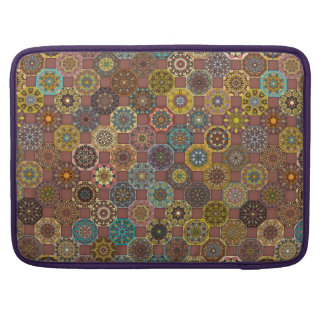 Colorful abstract tile pattern design sleeve for MacBooks
