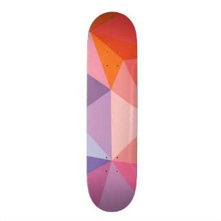 Colorful Abstract Triangle Pattern Skate Board