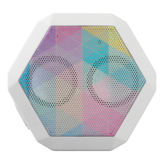 Colorful abstract triangles background white boombot rex bluetooth speaker
