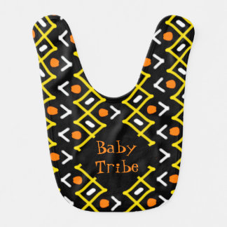 Colorful Abstract Tribal Pattern Typography Bib