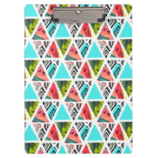Colorful Abstract Tropical Pattern Clipboard