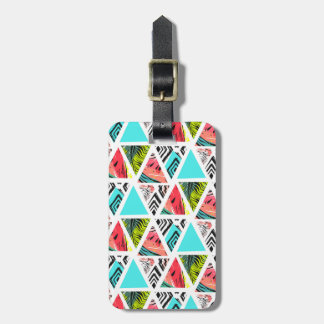 Colorful Abstract Tropical Pattern Luggage Tag