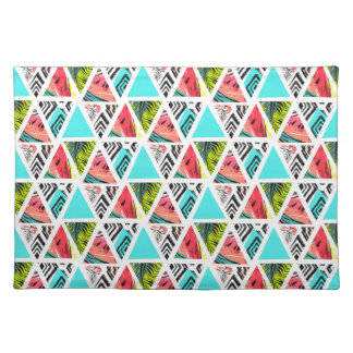 Colorful Abstract Tropical Pattern Placemat