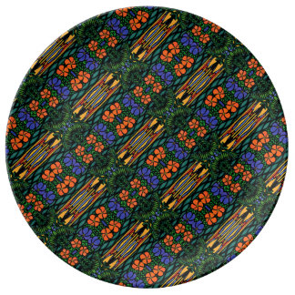 Colorful Abstract Tropical Pattern Plate